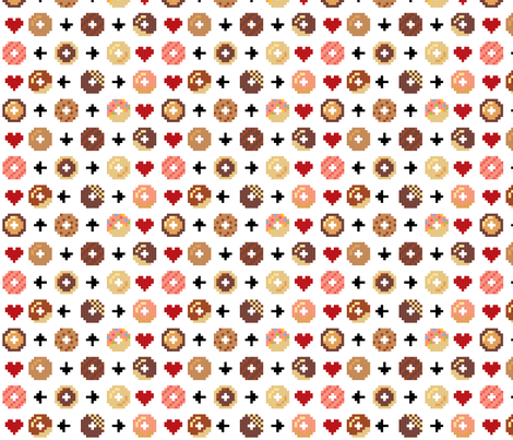 Secret Donut Code fabric by mayenedesign on Spoonflower - custom fabric