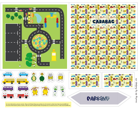 Carabag Pattern - Foldable Play Mat fabric by perlipo on Spoonflower - custom fabric