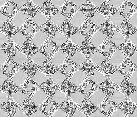 The Rococo Swag ~ Grey Moire fabric by peacoquettedesigns on Spoonflower - custom fabric