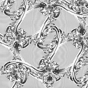 The Rococo Swag ~ Grey Moire