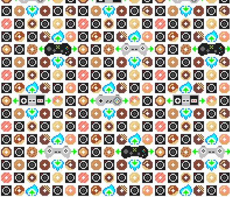Controlled Donuts fabric by mayenedesign on Spoonflower - custom fabric