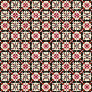 Pink & Grey Flower Grid