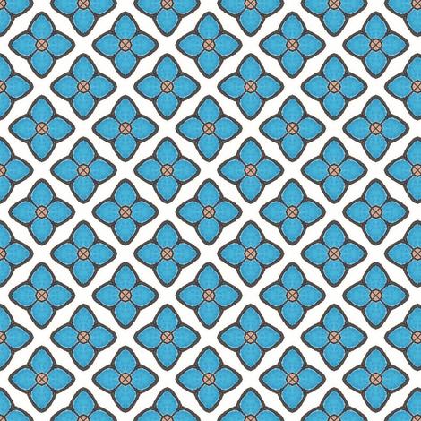 Dreamwood Blue Flower fabric by siya on Spoonflower - custom fabric