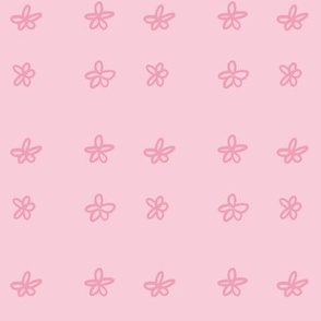 Simple Cute Flowers - Pink