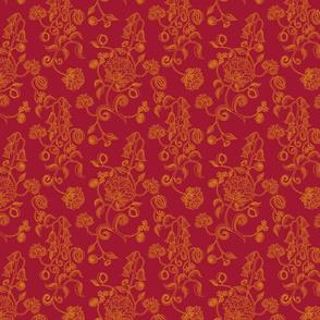 arts&crafts burgundy