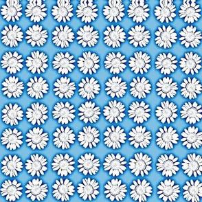 Blue and White Chrysanthemum Design