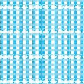 Blue Checkered-Large