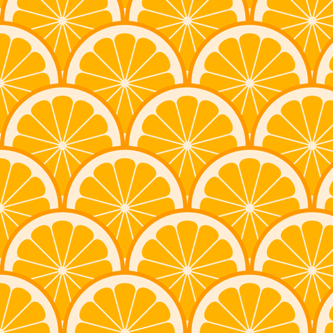 citrus scale 1x X - orange fabric by sef on Spoonflower - custom fabric