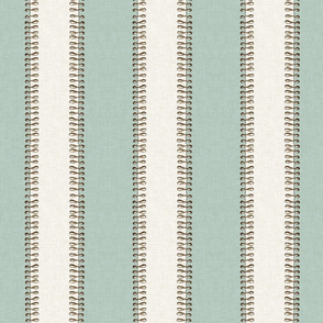 Vintage Jellyfish Stripe in Aquamarine and Linen