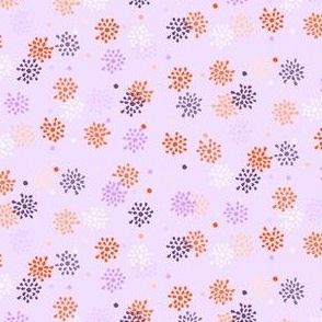 Spring Flowers - Orange and Purple 2