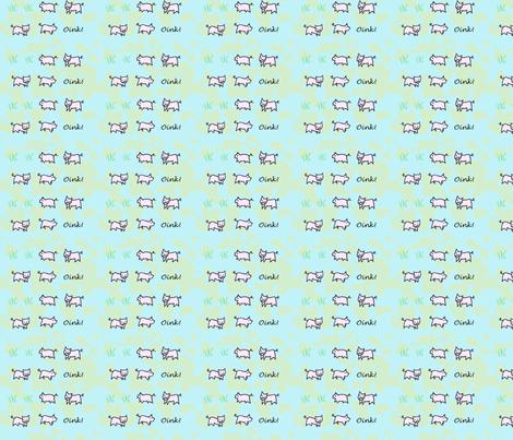Little pigs fabric by applejackkids on Spoonflower - custom fabric
