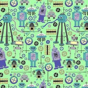 8 bit Geeky Retro Robots