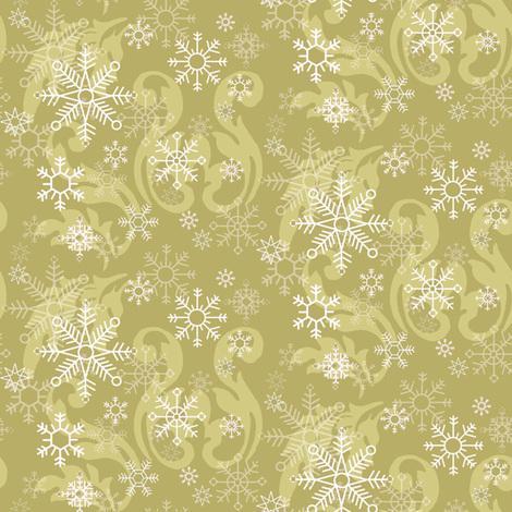 Large_Snowflake_Natural fabric by kelly_a on Spoonflower - custom fabric