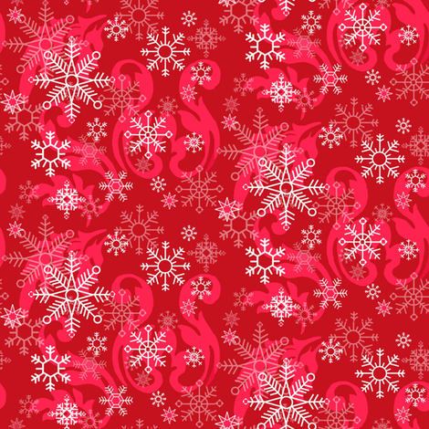 Red_Snowflake fabric by kelly_a on Spoonflower - custom fabric