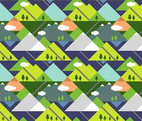 Road Trippin' fabric by mlahero on Spoonflower - custom fabric