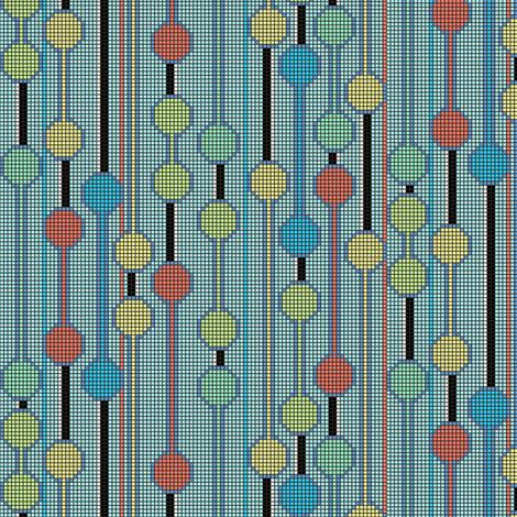 pixelated_stripe_vertical_c fabric by glimmericks on Spoonflower - custom fabric