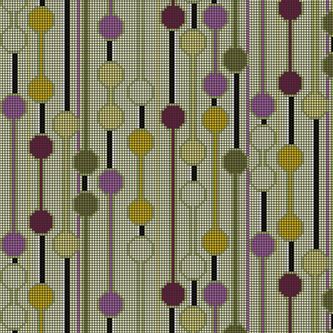 pixelated_stripe_vertical_d fabric by glimmericks on Spoonflower - custom fabric