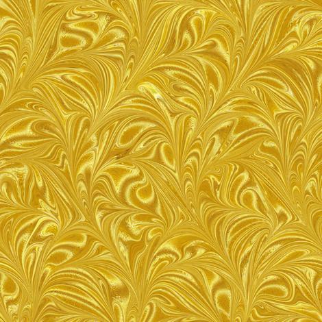 Metallic-Yellow-Swirl fabric by modernmarbling on Spoonflower - custom fabric
