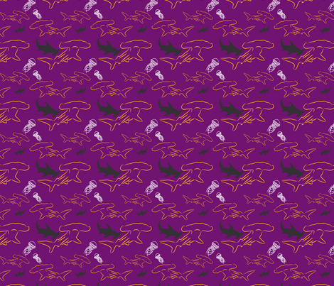 Hammerhead-purple fabric by craftinomicon on Spoonflower - custom fabric