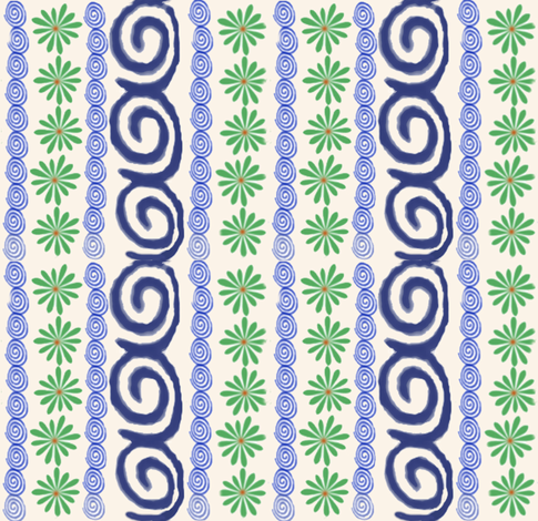 polish_pottery_fabric_2 fabric by utreviolet on Spoonflower - custom fabric