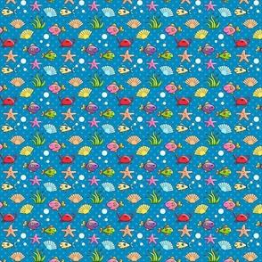 Sea Creatures on Polka Dots