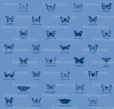 butterfly alphabet - blue twilight