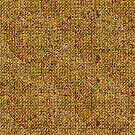 Woven Grass Circles fabric by eclectic_house on Spoonflower - custom fabric