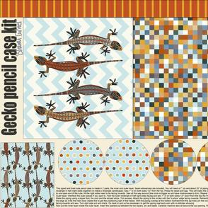 gecko pencil case kit