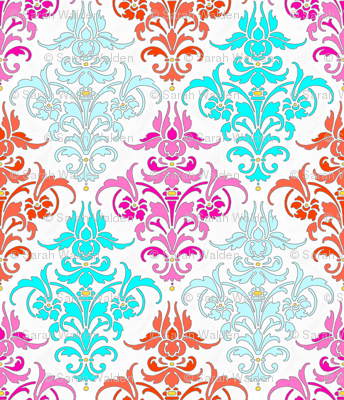 Bright and Early Damask