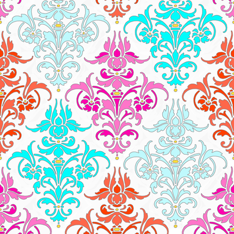 Bright and Early Damask fabric by peacoquettedesigns on Spoonflower - custom fabric