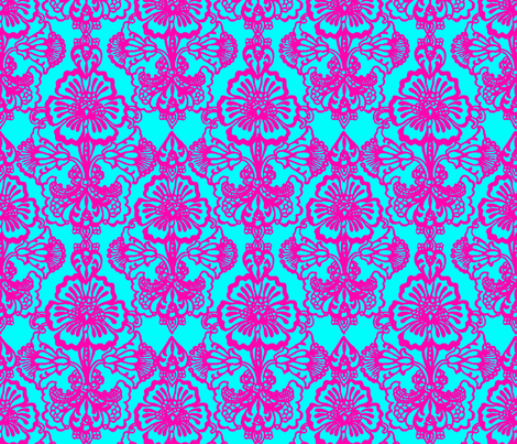 Rush ~ Cora Damask Ikat fabric by peacoquettedesigns on Spoonflower - custom fabric
