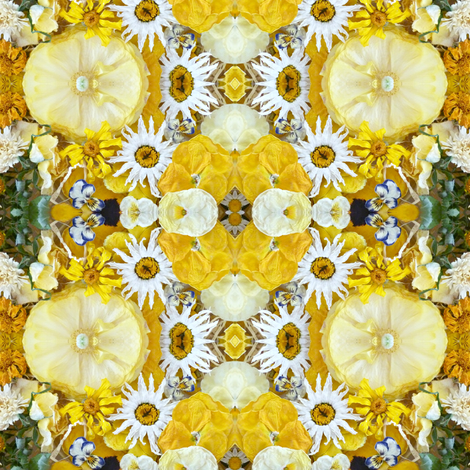 yellow plaid flowers fabric by larkspur_hill on Spoonflower - custom fabric