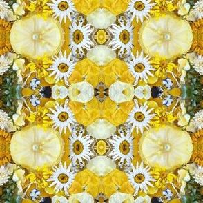 yellow plaid flowers