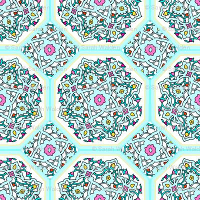 Circle Lock ~ Spring Break ~ Persian Tiles