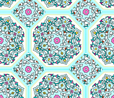 Circle Lock ~ Spring Break ~ Persian Tiles fabric by peacoquettedesigns on Spoonflower - custom fabric