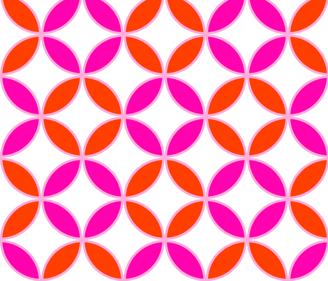 Circle Lock ~ Late To Class fabric by peacoquettedesigns on Spoonflower - custom fabric