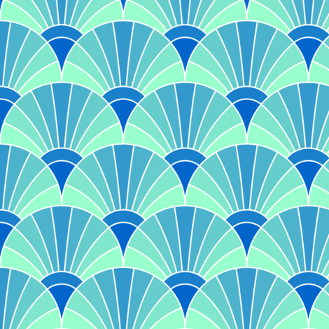02247916 : fan scale : icy arctic fabric by sef on Spoonflower - custom fabric