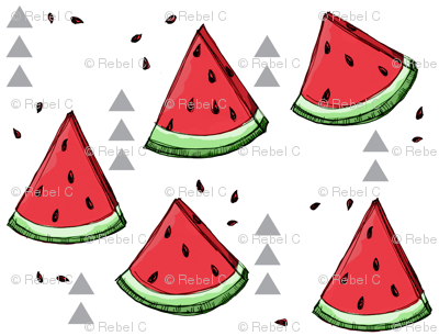Watermelon ditsy - small scale