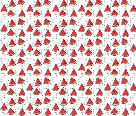 Watermelon ditsy - small scale fabric by mulberry_tree on Spoonflower - custom fabric
