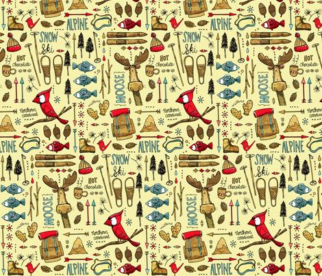 Winter Adventure, lemony fabric by mulberry_tree on Spoonflower - custom fabric
