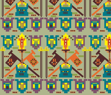 Krazy Krazy Knights fabric by slumbermonkey on Spoonflower - custom fabric
