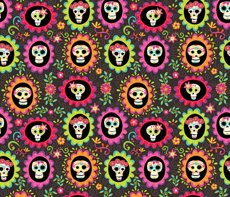 dayofthedead-spoonflower-01 fabric by figgy-pudding on Spoonflower - custom fabric