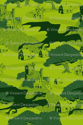 8 bit dragons green