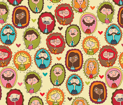 there's someone for everyone fabric by figgy-pudding on Spoonflower - custom fabric