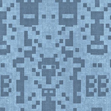 B-botz - blue denim fabric by materialsgirl on Spoonflower - custom fabric
