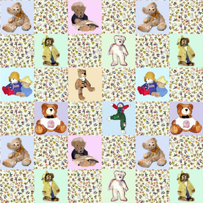 A Cheater Quilt-Vintage Bears