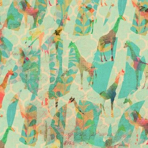 giraffes thru the porthole