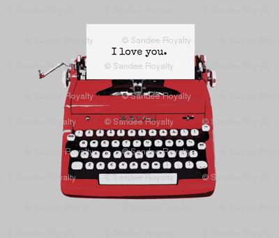 royal typewriter grey background