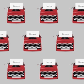 royal typewriter grey background