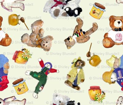 Even Vintage Bears love Honey-biggest
